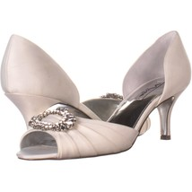 Nina Crystah Embellished Peep Toe Dress Pumps 388, Ivory Luster, 10 US /... - $29.75