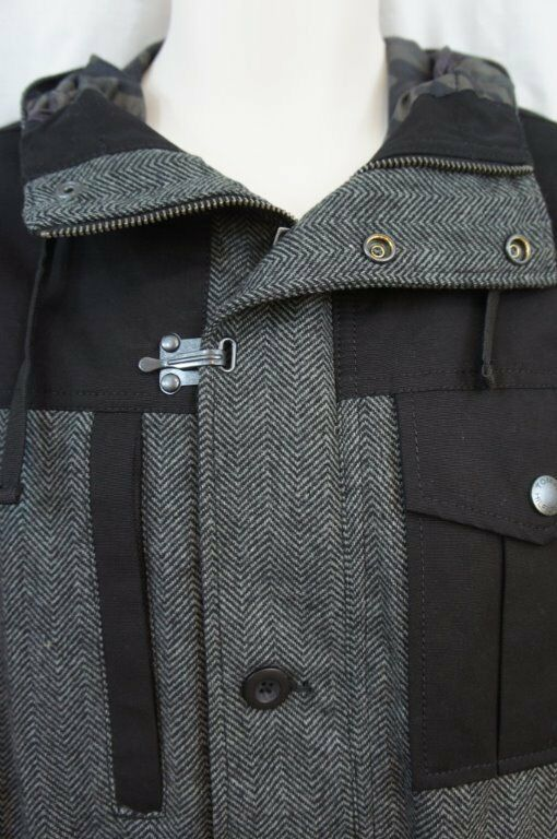 "Primary image for Tommy Hilfiger Essentials Mens Jacket Sz S Black Grey Multi ""Fall Basic"" Casual"