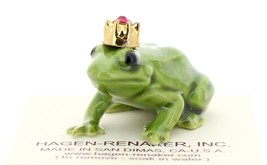 Hagen-Renaker Miniature Ceramic Frog Figurine Birthstone Prince 01 January image 1
