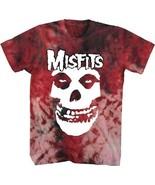 Misfits Demonio Cara Logo Lavado Ácido Tie-Dye Punk Rock Música Camiseta - $23.22