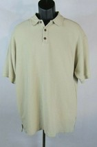 Tommy Bahama Mens Brown Polo Shirt Size L Short Sleeve Heavy J5P - $22.77