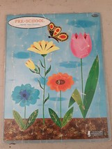 1961 Preschool Frame Tray Puzzle Flowers Blue Whitman  Developing Coordination - $16.82