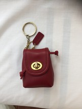 NWT/COACH/RED LEATHER/BACK PACK/KEY FOB/KEY RING/BAG CHARM - $100.00