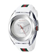 Gucci White Sync Xxl Rubber Dial Watch Ya137102 - $290.00