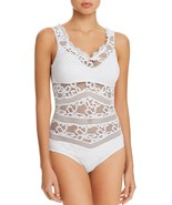 NEW BECCA Captured Crochet White One piece Swimsuit size S Small $124 - $74.24