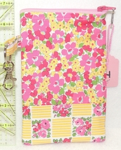 Clip-On Cell Phone Case - Large - Pink and Yellow Checkerboard Flowers  ... - $4.00