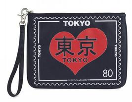 Rebecca Minkoff Reisebeutel Handgelenk Leder Tokyo - $64.35