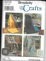 "Simplicity Crafts #8208 -  Quilt (45"" x 72"")  in a Pillow (18"") - UNCUT - $9.90"