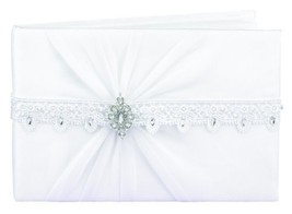 Hortense B. Hewitt Wedding Accessories Sparkling Elegance Guest Book, White - $29.10
