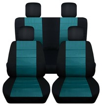 Front and Rear car seat covers Fits Jeep wrangler JL 2018-2020  black and teal - $159.99