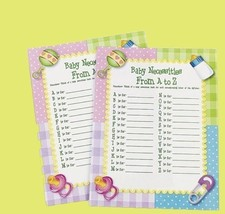 Baby Necessities A-Z Shower Game (24) Sheets Party Fun Favor - ₨397.80 INR