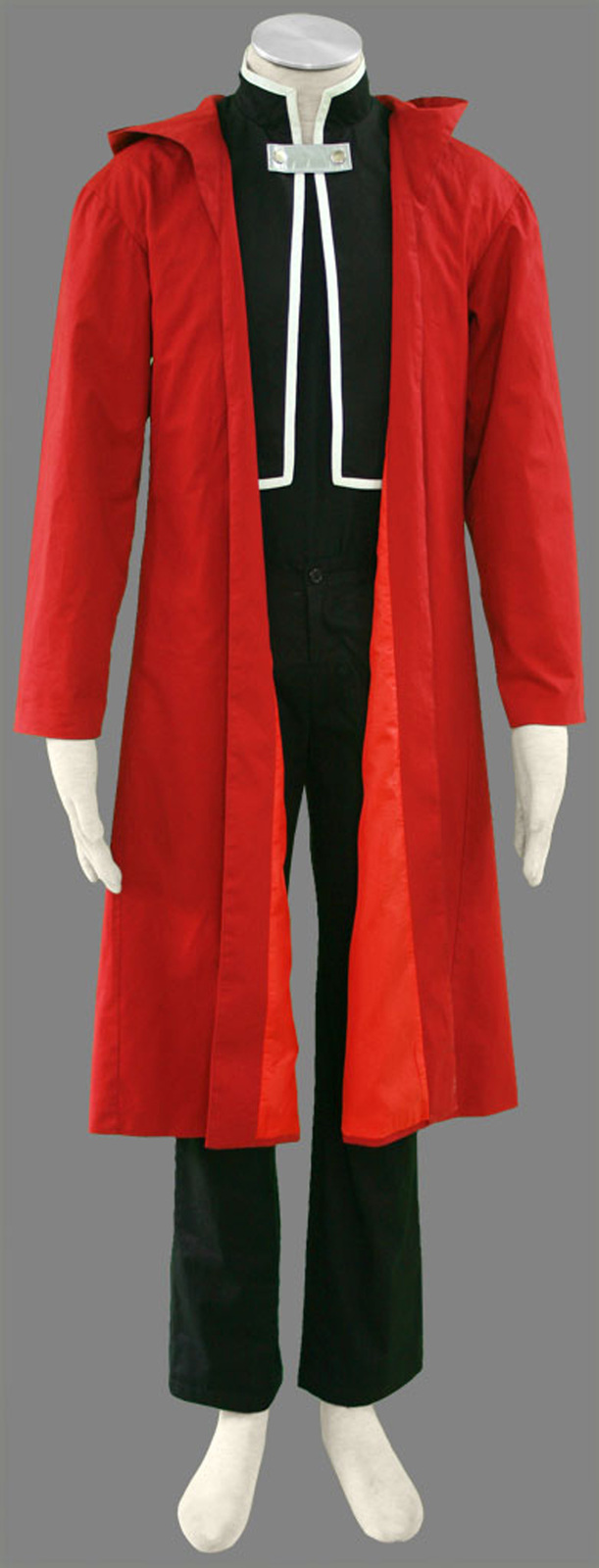 Edward Elric Black suit Red Cape Cosplay