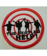 """The Beatles~HELP Album~Iron Sew~Embroidered Applique Patch~2 15/16"""" Round~NEW - $4.25"""
