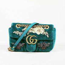 """Gucci Matelasse Velvet Mini """"Marmont"""" Crossbody Bag - $2,910.00"""