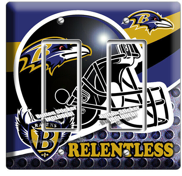 Primary image for BALTIMORE RAVENS FOOTBALL TEAM 2 GFCI LIGHT SWITCH WALL PLATE MANCAVE ROOM DECOR