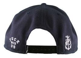 Crooks & Castles F.W.U Fu*k with Us Dark Navy Snapback Baseball Hat NWT image 4