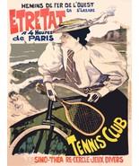 Decoration Poster.Etretat French tennis club.Wall art room interior desi... - $10.89+