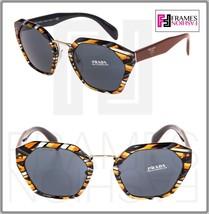 Prada Cinema Oversized Sunglasses 04T Sheaves Grey Orange Lines PR04TS Women - $234.63