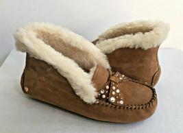 Ugg Alena Brilliant Chestnut Shearling Mocassin Slippers Us 6 / Eu 37 / Uk 4.5 - $92.57