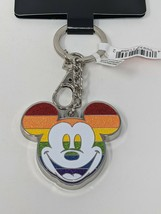 Mickey Mouse Disney Rainbow Collection Metal Keychain Disney Parks - $18.69