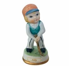 Birthday Gift porcelain figurine vtg ceramic sculpture Japan 1960s July ... - $19.30