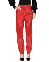 Elastic Waist Tapered Leg Casual Pants Women's Genuine Soft Skin Leather Pants
