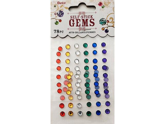 Darice Self-Stick Primary Color Gems #1210-49