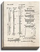 Ski Patent Print Old Look on Canvas - $39.95+