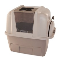 Scoop free self cleaning litter box cat toilet automatic smart sift pan ... - $154.97