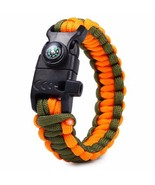 Compass Rescue Paracord Bracelet with Fire Star... - $7.92