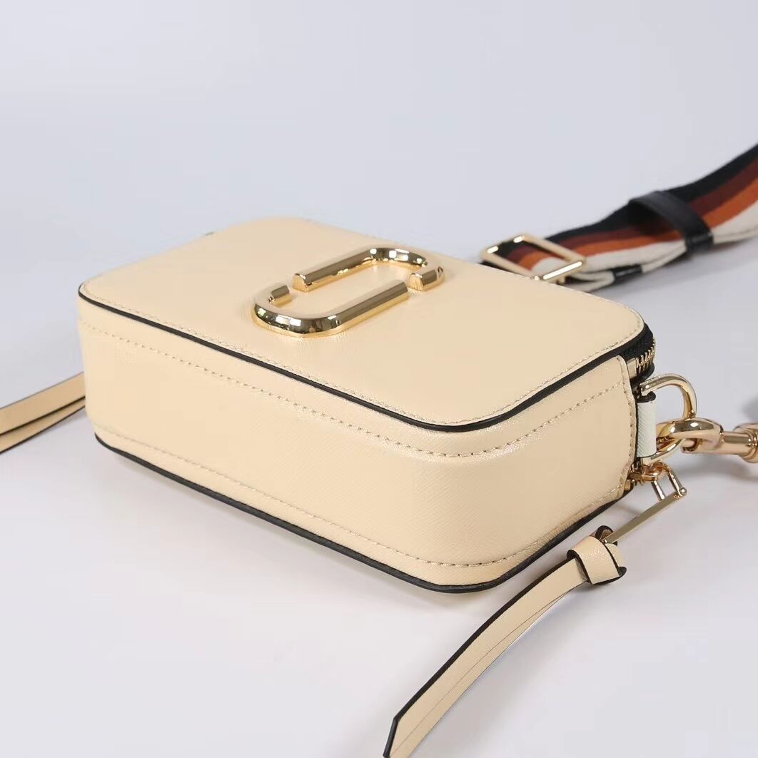 Marc Jacobs Snapshot Small Camera Bag Crossbody Bag Biscuit Auth