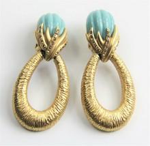 VINTAGE ESTATE Jewelry SIGNED OSCAR DE LA RENTA DOOR KNOCKER MELON CAB E... - $225.00