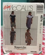 1990 McCall's Sewing Pattern 4674 SZ 12-14-16 Dress Uncut - $5.68