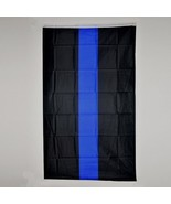 "Flag 3X5 3'X5"" 90X150 cm Thick Blue line Support your Police Law Enforce... - $10.00"