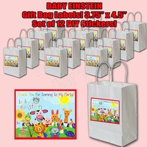Baby Einstein Party Favor Thank you Decals STICKERS ONLY Loots Party 12 ... - $14.80