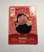 Animal Crossing Amiibo Card - Eunice - #81 - Nintendo - $8.00