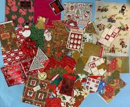 LOT Vintage Hallmark Christmas Gift Wrap Stickers Cards Gift Tags Holida... - $24.75