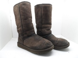 Ugg Australia Women's 5815 Classic Tall  Sheepskin Boots Chocolate Size 7M - $28.49