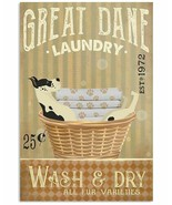 VibesPrints Laundry Great Dane Poster Art Print Decor - Perfect Gift For... - $25.59+