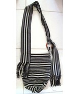 Colombia Hobo Bag By Stex Cott Blend Striped Crossbody Shoulder Bag Blac... - $29.78