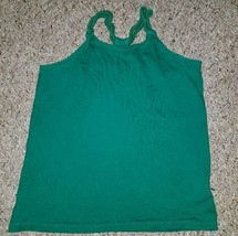 GAP KIDS Green Twisted Rope Racer Back Tank Top Girls Size 8 - $1.88