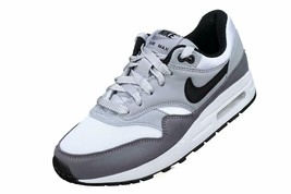 Nike Air Max 1 (GS) White Black Wolf Grey Gunsmoke Kids Running Shoes 807602 108 image 2