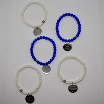 STEEL BRACELET 0,5 AGATE WITH ODE TO LIFE OF MOTHER TERESA OF CALCUTTA image 2