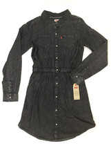 Levis Girls Long Sleeve Dress Size L 12 13 Years Black Dark Gray $48 - $24.52