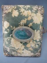 Vintage Photo Album Scrapbook Metal Clasp Velvet Cover With Mirror - $37.39