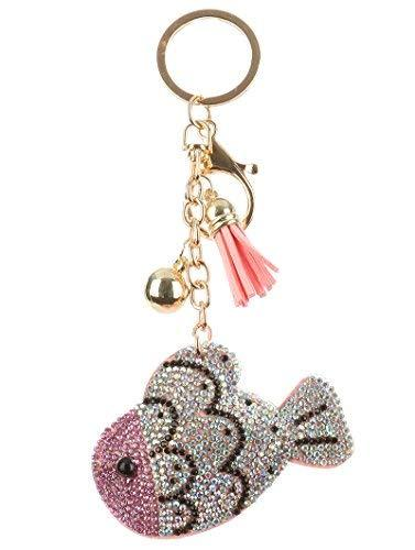 scarlettsbags Pave Crystal Fish Handbag Purse Charm Jewelry Pillow Key Chain