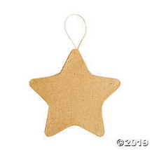 Papier-Mâché Star Ornaments - $19.11