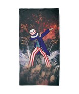 4th of July Dabbing Uncle Sam Fireworks Sub All Over Beach Towel - $26.95