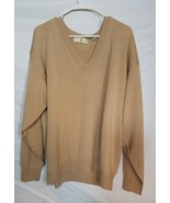 HARRY VARDON MEN'S LONG SLEEVE BEIGE GOLF SWEATER PULLOVER ALL WOOL - $29.39