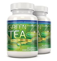 Green Tea Extra Strength 10,000mg with 95% Polyphenols 180 Capsules (2 M... - $16.89